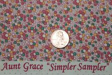 """AUNT GRACE """"SIMPLER SAMPLER"""" QUILT FABRIC CIRCA 1930's BTY FOR MARCUS 5863-0326"""