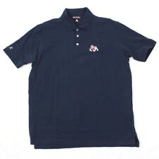 Atigua Varsity Bull Dog Captains Polo Shirt Adult Large Navy Blue Rugby T Cotton