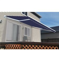 ALEKO Retractable Patio Awning 13 X 8 Ft Deck Sunshade Blue Color