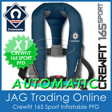 AUTOMATIC CREWSAVER CREWFIT 165 SPORT PFD NAVY BLUE - AUTO INFLATABLE LIFEJACKET