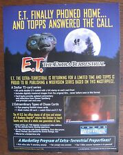 E.T. The Extra-Terrestrial Trading Cards Sell Sheet (no cards) 1996 Topps