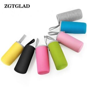 1pcs Elastic Fiber Insulated Water Cup Cover 550ml Sport Bottle Pouch Cup Access