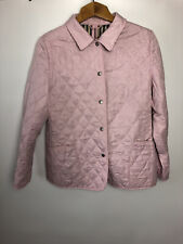 authentic Burberry diamond quilted jacket  pale rose