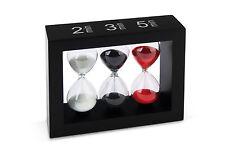 Tea-Timer Teatimer Sanduhr 2/3/5 Minuten schwarz