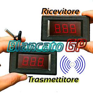 Termometro wireless NTC -50°C +119°C senza fili 2 pezzi trasmittente + ricevente