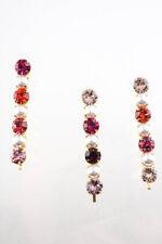 Lelet NY para mujeres Cristal Perla Bobbi Conjunto de 3 Tono Oro Rosa Púrpura