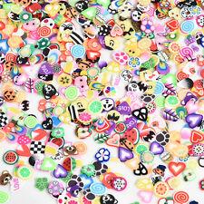 DIY 3D Fruit Animals 1000pcs Fimo Slice Clay Nail Art Tips Sticker Decoration
