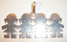 STERLING SILVER FOUR CHILD PENDANT-STAMPED 925gr/MEXICO