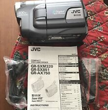 JVC Digital Compact VHS Camcorder - Model GR-SXM320U