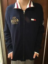 Tommy Hilfiger Worldwide Navy Long Sleeve Full Zip  Men's Sweater Size XL