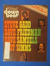 DOWN BEAT MAGAZINE DECEMBER 2 1976  STEVE GADD DAVE FRIEDMAN DAVE SAMUELS ZOOT