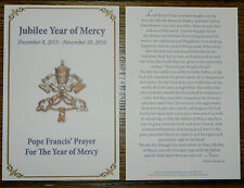 Vatican Year of Mercy Holy Card - Pope Francis Year of Mercy Holy Card - NEW