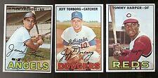1967 Topps Lot Jim Fregosi 385 Angels Jeff Torborg 398 Dodgers Tommy Harper 392