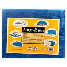 Tarp It Poly Tarpaulin Canopy Heavy Duty Water Proof Tent Car Boat Cover 5' x 7'