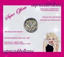 200 Strass brillantini rotondi diamond ricostruzione unghie nail art