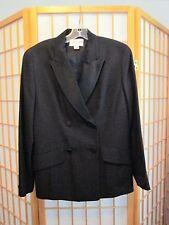 Emanuel by Emanuel Ungaro Ladies Womans Black Tuxedo Suit-Jkt. Sz.4; Pants Sz.6