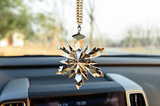 1PCS 2018 New Crystal Champagne Snowflake ornament Charm Pendant  Car Decortion