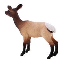 Wildlife Animal Figure Toy White Hip Female Elk Plastic Animal Learning Toys