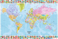 POSTER World Map Maxi Poster With Flags