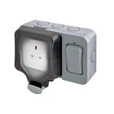 BG Nexus Weatherproof 1 Gang single 13A Socket With External Switch WP21ES