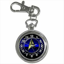 STAR Trek Badge Argento tono di colore KEY CHAIN RING OROLOGIO REGALO NUOVO D01