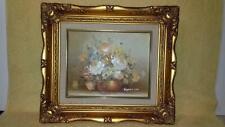vintage framed robert cox floral still life