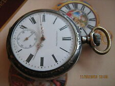 SALE!!! Rare,nice Hyppolite Parrenin Chronometre,Art-Deco 84 silver pocket watch