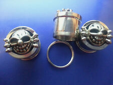 SKULL SCREW FIT DOUBLE FLARE TUNNEL STAINLESS STEEL 9/16 INCH 1 PAIR