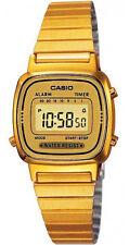 Casio LA670WGA-9 Women's Metal Band Vintage Gold Tone Digital Watch