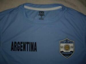 Striker Argentina 10 Numero Uno Light Blue Soccer Shirt Jersey Size Medium MINT!