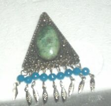 B.O.---S.S. PIN/PENDANT WITH STONES-TRIANGLE SHAPE-MADE IN ISREAL