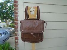 The Sak Ventura Brown Leather Convertible Crossbody Purse Bag & Backpack