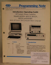 HP6030A System Power Supplies Indroductory Operating Guide