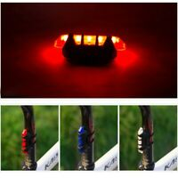 5 LED USB Rechargeable Bike Tail Light Bicycle Safety Cycling alarm Rear Lamp
