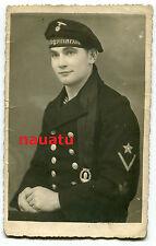 Foto Portrait Marine Minensucher mit Orden 1943
