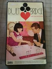 PARKER BROTHERS DUET BRIDGE FOR TWO PLAYERS Vtg CARD GAME #205 - Complete