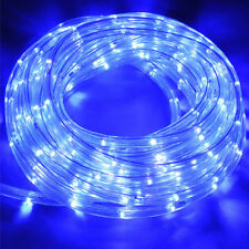 10 m LED Lichtschlauch Lichterketter Außen Innen IP44 DE, Blau, 13 mm, 3 Lichtmo