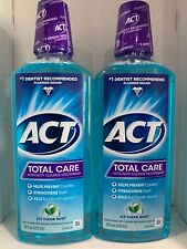 (2 Pack) ACT® Total Care Formula Mouthwash 18oz Kills Germs Free Priority Ship!