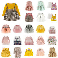 Baby Girls Clothes Skirt Kids Long Sleeve Dress Fall Daily Party Infant Dresses