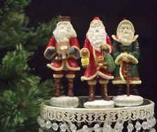 Christmas Set of 3 Old World Style Santa's Resin Figurine F-61