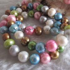 "22.5"" 7-9mm Multi Color Freshwater Pearl Necklace MC2 U"