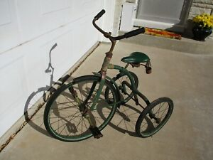 Rare Antique Tricycle American National CO Authentic Original 1920's Old Vintage