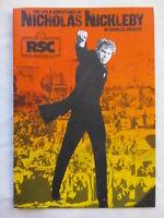NICHOLAS NICKLEBY.CHARLES DICKENS.RSC NEWCASTLE PROGRAMME 1986.M SIBERRY.FAIRMAN