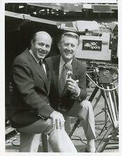 VIN SCULLY JOE GARAGIOLA SMILE PORTRAIT BASEBALL ALL STAR GAME 1983 NBC TV PHOTO
