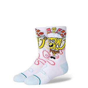 Stance Spongebob Imagination Kid's Girl's Crew Socks NEW L (Y3-5.5)