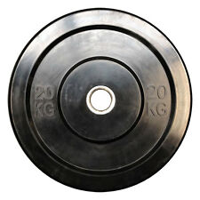 Pair of 20kg Black Bumper Plates for Gym Exercise Weight Lifting powerlifting