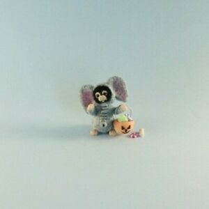 OOAK~Monkey~Elephant Costume~Mini~Artist Doll~Baby Toy~Dollhouse~Cheryl Brown