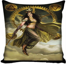 Cushion Pillow Cover Steampunk Wicca Fairy Gypsy Wands Symbols Polyester