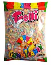 Trolli Brite Crawlers 2kg Bag Candy Buffet Gummy Sour Worms Lollies