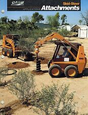 """CASE SKID STEER ATTACHMENTS APPLICATIONS  BROCHURE """"NEW"""""""